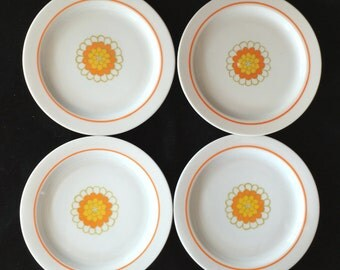 """Georges Briard Florette 6-1/4"""" Bread and Butter Plates (Set of Four) Excellent Condition"""