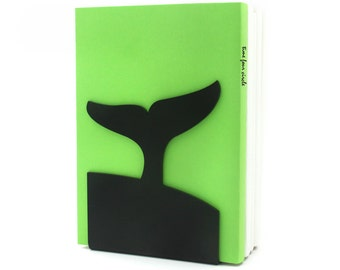 Whale Tail Bookend, Modern And Minimalistic Style.