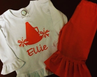 Handmade...Cheer Outfit...Handmade Clothing...Childrens Clothing...Baby Clothing