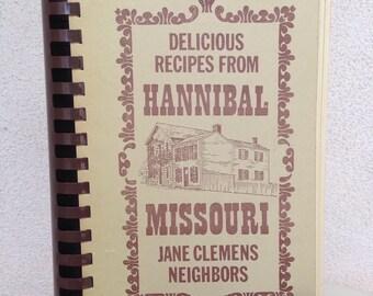 Vintage regional Cookbook of Hannibal Missouri Jane Clemens Neighbors