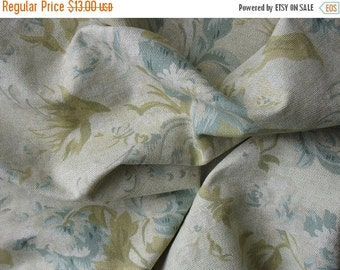 20% SALE Cotton Upholstery Fabric Linen Fabric Cotton Floral Fabric - 1 3/8 Yard - UF1368