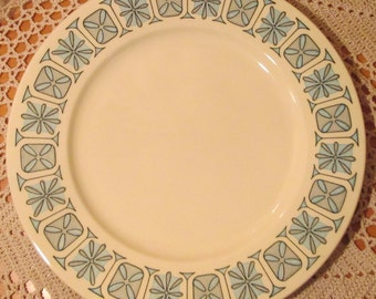 Vintage Taylor Smith Taylor  Mid-Century Modern Corinthian Pattern Dinner Plate,