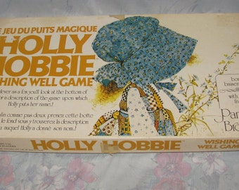 Vintage 1976 Holly Hobbie Board Game Complete - Wishing Well Game By Parker Brothers - Hobby