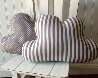 grey nursery decor, cloud pillow, grey cloud decor, nursery pillow, grey pillow, clouds by whimsysweetwhimsy, ready to ship