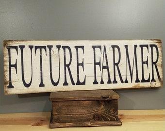 Future Farmer-FFA- Future Farmers of America - Rustic wood sign, hand painted, and distressed