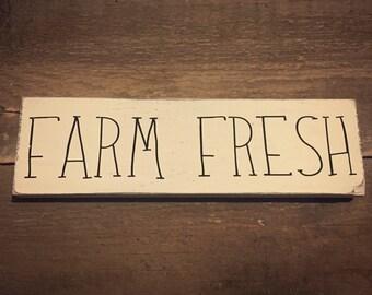 Farm fresh sign - Farmhouse Decor, Rustic Farmhouse Decor