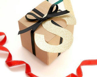 Gold Glitter Gift Tag