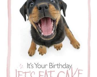 Rottweiler birthday card