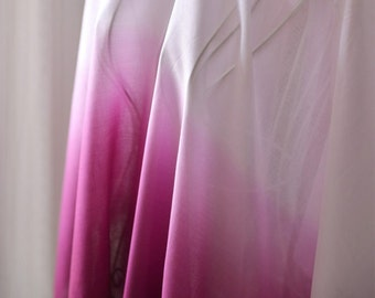 Gradient White Purple Gauze Fabric MJ464
