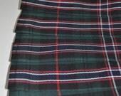 Baby Kilt in Scottish National tartan, 0-6m, Poly viscose, Machine washable. Handmade in Scotland.