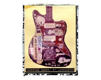 Sonic Youth Thurston Moore guitar art print / music gift / rock n roll art / music room decor / guitar gift / man cave art