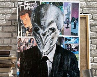 Doctor Who Canvas Print of The Silence