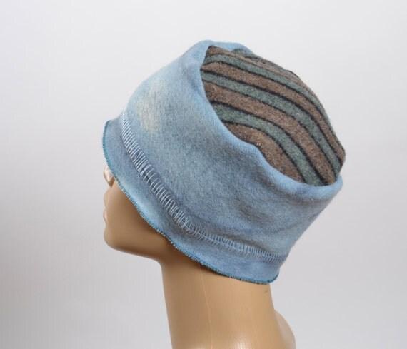 Women's Hats - Hand Dyed Repurposed Hat - WInter Hats -  Blanket Hat - Women's Winter Hats - Warm Hats