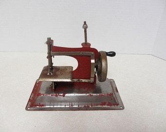 Metal Toy Sewing Machine 1940 to 1950