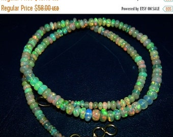20%off. 20 Percentoff. Ethiopian Opal Smooth Roundel beads-  37ct.Opal Beads, Gemstone Beads- Smooth Plain.