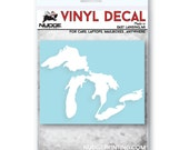 Great Lakes of Michigan Vinyl Car Decal Sticker Emblem FREE SHIPPING