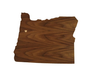 ON SALE! Oregon Wall Decor - Left my Heart in Corvallis Wood Wall Decor