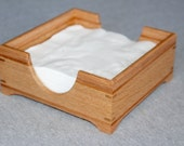Handmade Wooden Napkin Holder Made out of Oak and Cherry - Free Shipping