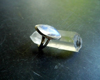 Silver ring, ring, wedding, Moonstone ring, Moonstone, white, open, jewelry,
