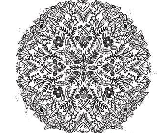 Floral Array Print