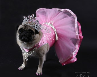 SPECIAL OCCASION:  Pink Pageant Dog Dress