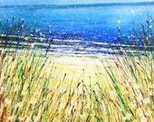 Daisy Beach Watercolour Painting