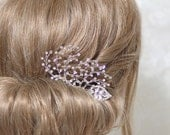 Bridal hair piece, bridal fascinator, bridal headpiece, bridal hair comb, bride silver accessory