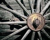Country Farmhouse Decor, Wagon Wheel Photograph, Modern Rustic Wall Art, Western Decor | 'Rusty Hub'
