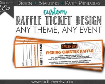 Custom Raffle Ticket Design (Any Event Any Theme), Fundraiser Ticket Design, Raffle, Fundraising Raffle, Raffle Ticket, Digital File