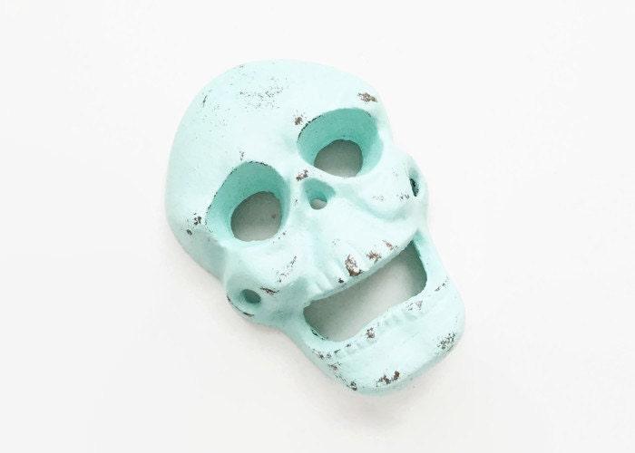 Wall Mounted Bottle Opener. Skull Bottle Opener. Sugar Skull