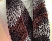 Crochet Infinity Scarf, Crochet Cowl, Crochet Neckwarmer, Scarf, Winter, Women's Accessories