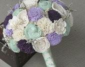 Wedding Bouquet, Sola wood Bouquet, Sola Lavender mint Bouquet, Alternative Bouquet, Sola flowers, Wood Boquet