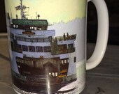 Ferry Boat Large Coffee Mug 15 Oz