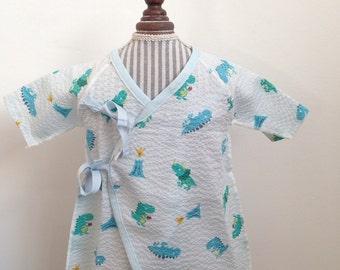 Newborn Kimono DINO (jinbei) // Kimono naissance Dinosaure