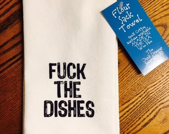 F*#@ The Dishes Tea Towel