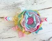 Baby Girl Headband- Matilda Jane Headband- Pastel Lace Headbands- Baby Headbands-Newborn Headband- flower headband