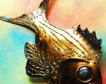 Samantha Striper, Hand Made Metal Fish Wall Piece