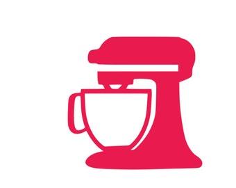 Baking MIXER SVG cut file-Cricut-Silhouette
