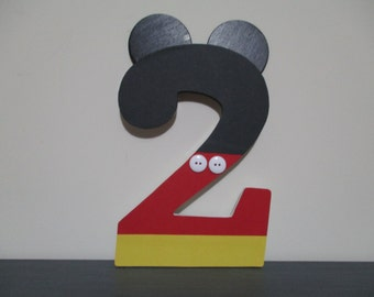 "Mickey Mouse NUMBERS, NUMERALS - 18.00 per number, 8-1/2"" numbers, perfect for birthday party decorations and for monthly birthday pictures"