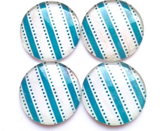 SALE! Glass Magnets - Refrigerator Magnets - Cute Magnets - Pretty Magnets - Office Magnets - Decorative Magnets - Turquoise Decor