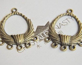 10 pcs antique bronze  plating earring   pendant finding
