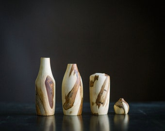 Set of Four Spalted Maple Stickvases