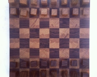 Minimalist Chess Set - White Oak and Black Walnut