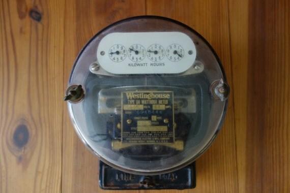 Antique Watt Meter : Vintage electric meter westinghouse exterior house