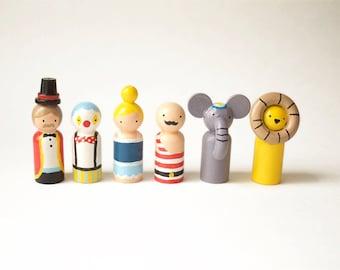 Wanderlust Adventures toys - Circus - Wanderlust adventures - Wooden peg dolls