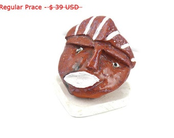 Clay Sculpture, Handmade sculpture, Red Clay Sculpture, Unique Sculpture, Art Desk Accessorie