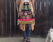 Bohemian backpack drawstring