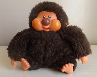 Vintage Monchhichi Monkey. Stuffed Animal. Vintage Teddy Bear. Vintage 80s Toys. Kitschy. Stuffed Animals.