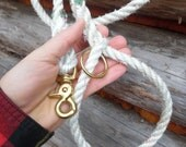 Handmade Salvaged Nautical Dog Leash. 2 dollars donated for every purchase!