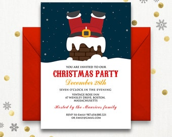 christmas card invitations